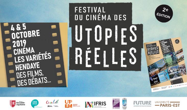 Festival du Cinéma des Utopies Réelles 4 & 5 octobre 2019